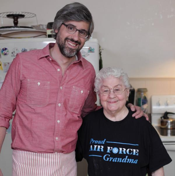 "Mo Rocca and Clara Corrado on the Cooking Channel's ""My Grandmother's Ravioli."" (Cooking Channel)"