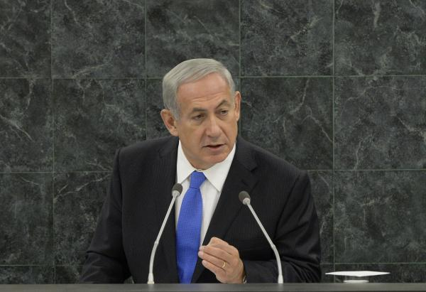 Israeli Prime Minister Benjamin Netanyahu addresses the 68th session of the United Nations General Assembly on Tuesday.