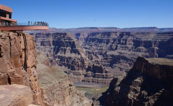 The Grand Canyon Skywalk is open during the shutdown, because it's owned by the Hualapai Indian tribe. (L. Richard Martin, Jr./Flickr)