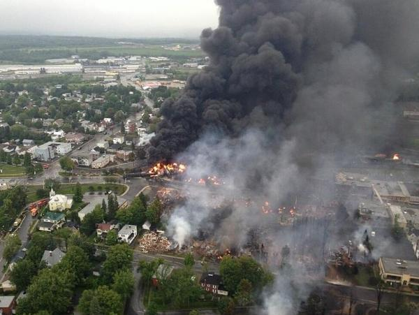 People fled Lac-Mégantic early the morning of July 6 as massive fireballs rolled into the sky.