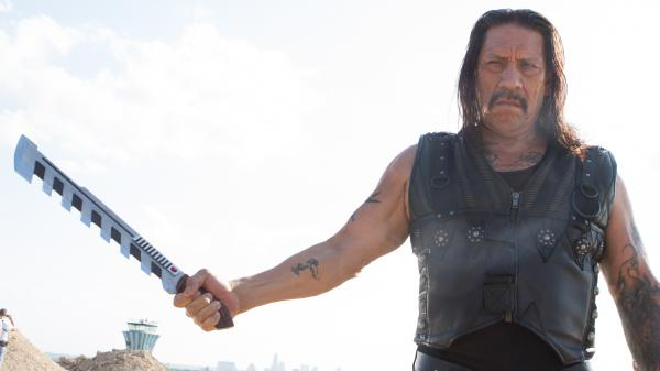 Everything is more exaggerated in this sequel to 2010's <em>Machete</em>, including Machete's (Danny Trejo) signature weapon, now serrated and electric.