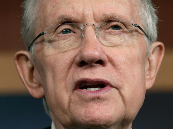 Senate Majority Leader Harry Reid of Nevada speaks at a news conference last week on the government shutdown.