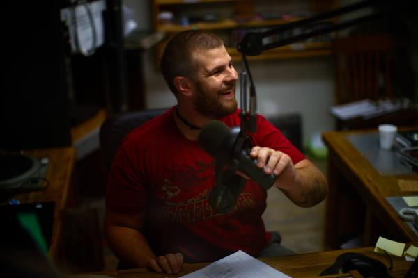 Caleb (Dr.) Diller, is a DJ at WVMR-AM, Allegheny Mountain Radio, in Frost, W.Va. The station broadcasts at a low enough frequency to avoid being banned.