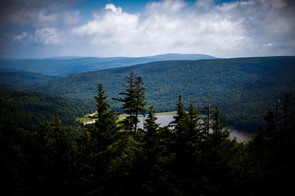 The view west from the top of Snowshoe Mountain Resort, which is within 10 miles of the NRAO.