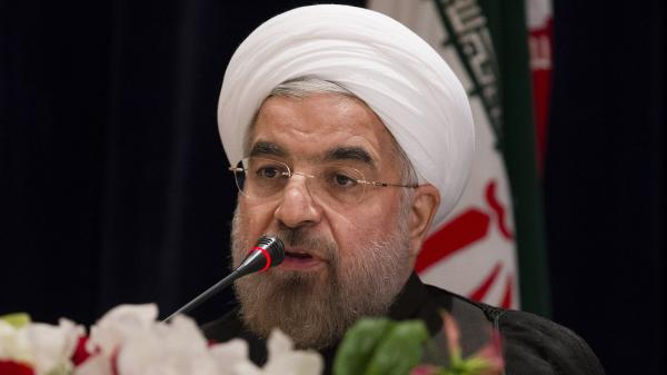 Iranian President Hassan Rouhani answers a question during a news conference in New York last month.