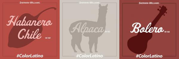 "Here's a selection of colors from the Sherwin-Williams ""Color Latino"" campaign."