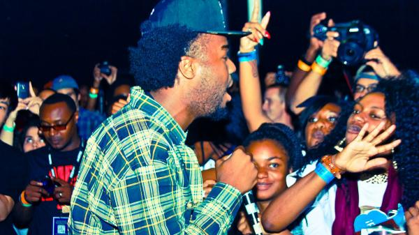 Iamsu! performing at the Street Execs showcase Thursday night.