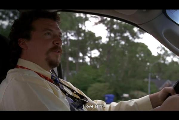 Actor Danny McBride (a.k.a. Kenny Powers) from the fourth season opening scene of HBO's <em>Eastbound & Down</em>.
