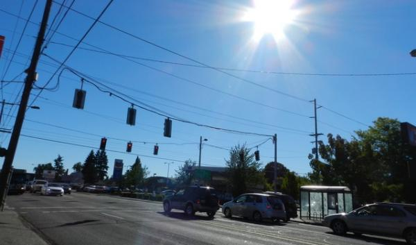 A hot street scene in Portland last summer. Multnomah County just put out its plan for adapting to some of the ways a warming climate will affect human health.