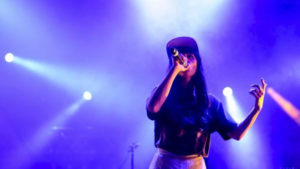 Mala Rodriguez on stage at the Mulafest Festival in Madrid in June.