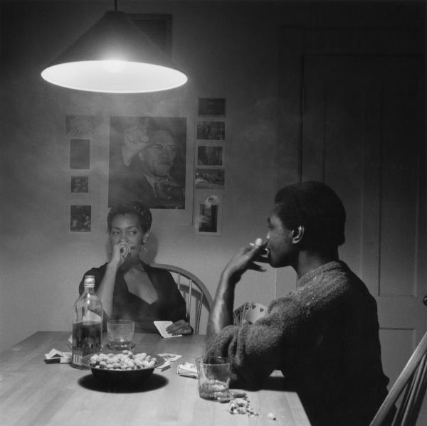 <em>Untitled (Man Smoking/Malcolm X)</em> from <em>The Kitchen Table Series,</em> 1990