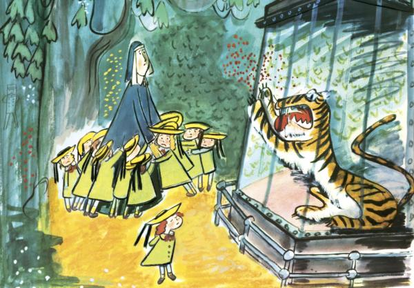 """To the tiger in the zoo, Madeline just said, 'Pooh-pooh.'"""