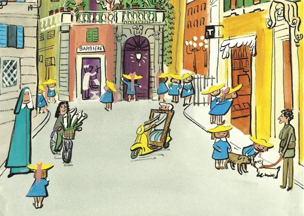 A page from John Bemelmans Marciano's <em>Madeline and the Cats of Rome.</em>