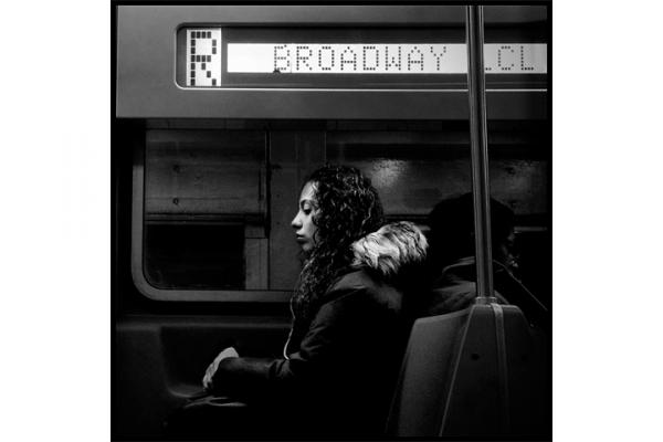 """<strong>New York. </strong>There is an unspoken rule on the New York City subway under which fellow passengers commit to avoid eye contact, """"look, but not see"""" each other. Shel Serkin commutes from one Brooklyn neighborhood to another, mostly on the R train along 4th Avenue. New Yorkers are masters of being alone in public and use their commute in many regenerative ways."""