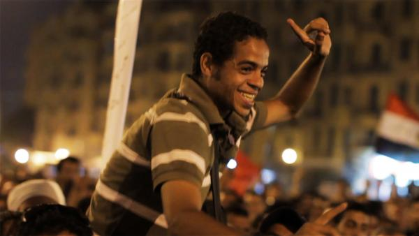 Ahmed Hassan is the leader of the group of young Egyptian revolutionaries at the center of <em>The Square</em>.