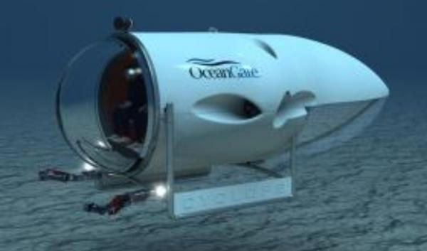 Rendering of manned deep sea sub in development in Seattle.