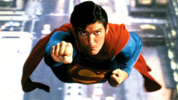 Christopher Reeve in <em>Superman: The Movie</em>.
