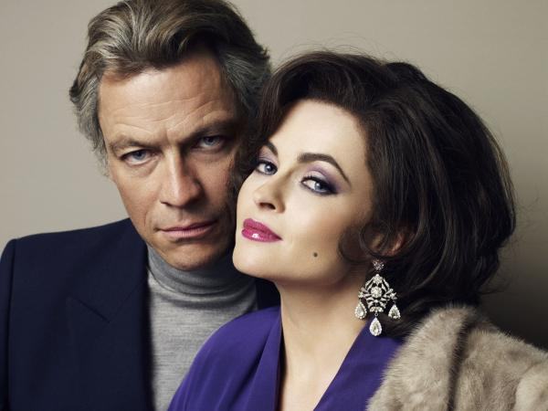 Dominic West and Helena Bonham Carter star as Richard Burton and Elizabeth Taylor in <em>Burton and Taylor,</em> a new made-for-TV movie from BBC America.