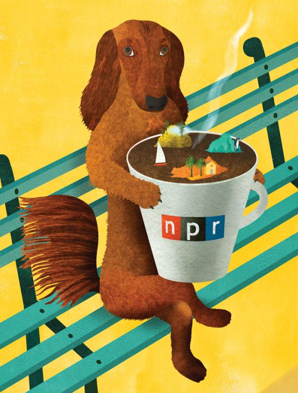 Ellen Weinstein's art for the NPR Wall Calendar.
