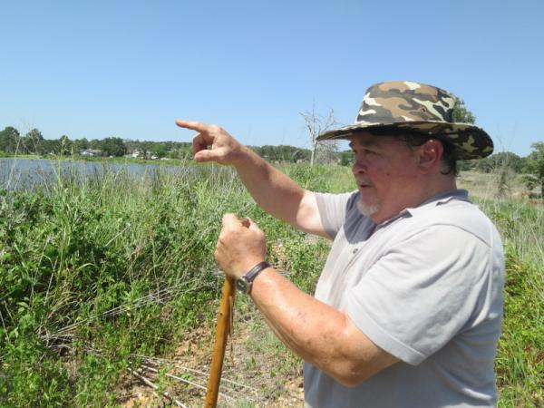 Bruce Bar is a certified floodplain manger and caretaker of his neighborhood dam in Bastrop County.