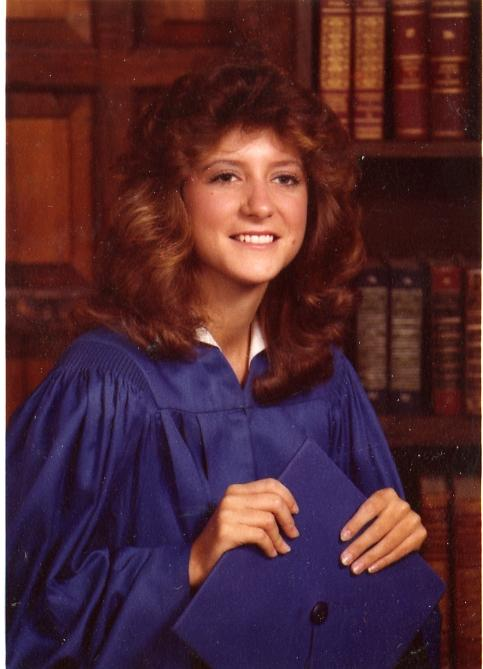 Wendy Russell graduating from Fort Worth's Richland High School in 1981.