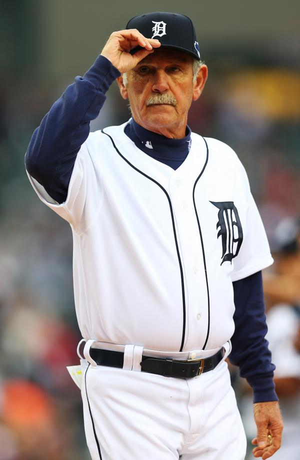 He's leaving the field: Detroit Tigers manager Jim Leyland earlier this month.