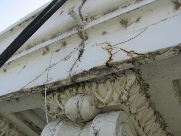 The kind of damage that plagues the Capitol Dome.