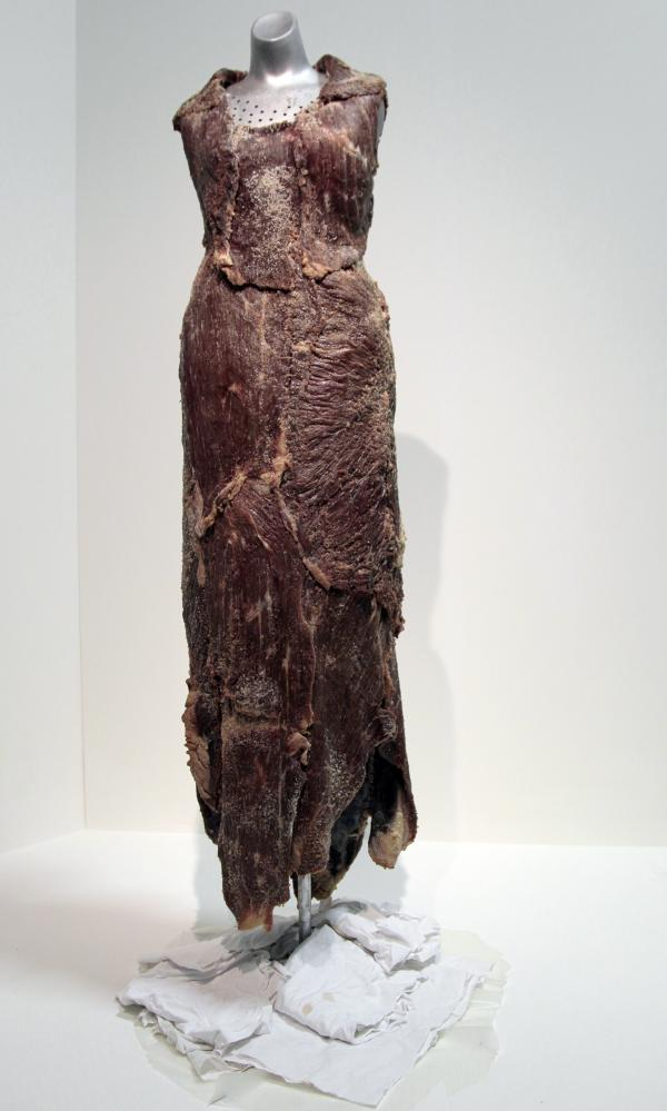 <em>Vanitas: Flesh Dress for an Albino Anorectic</em>, by the artist Jana Sterbak