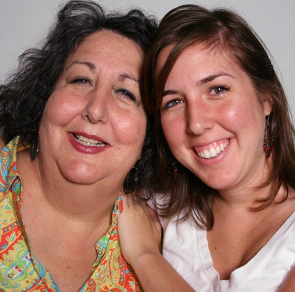 Laura Greenberg and her daughter Rebecca, in 2011.
