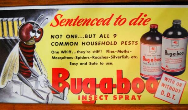 An old DDT insecticide poster. Researchers at Washington State University have linked DDT exposure to obesity generations later.