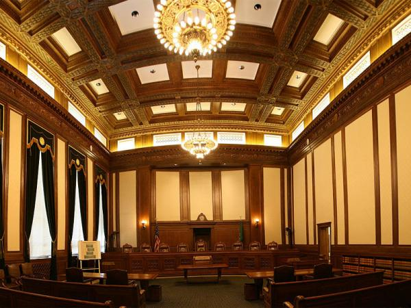 File photo of the interior of the Washington state Supreme Court