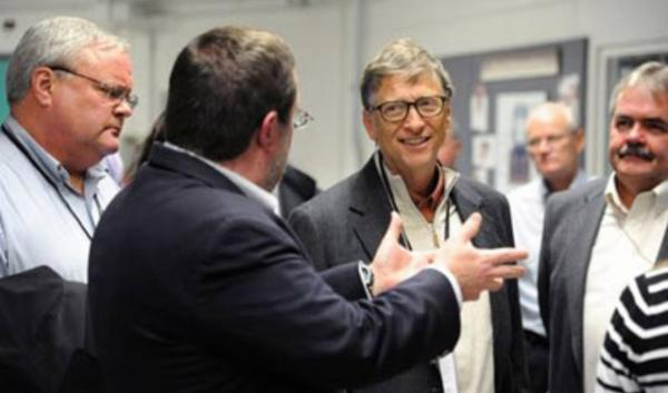 Bill Gates during a tour last week at the Idaho National Laboratory.