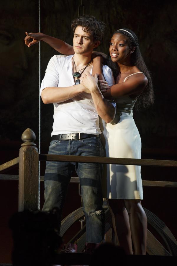 Condola Rashad stars opposite Orlando Bloom in the new Broadway production of <em>Romeo & Juliet. </em>