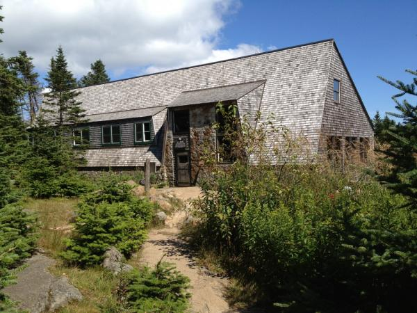One of the AMC huts in New Hampshire's White Mountains. (Chris Ballman/Here & Now)