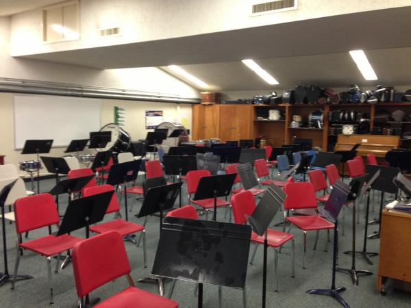 The orchestra room at Hamlin.