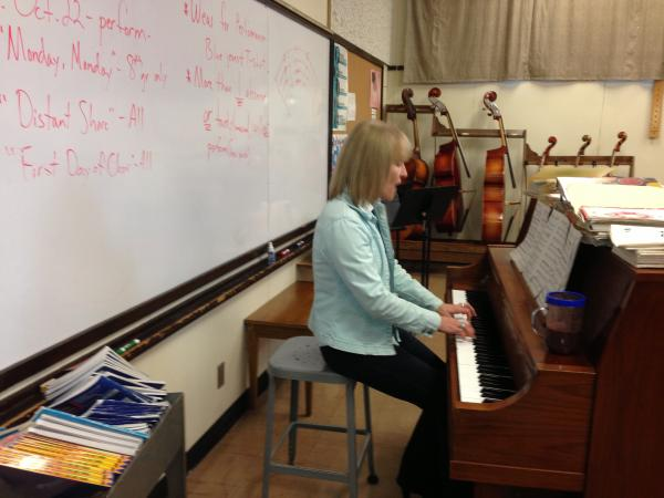Hamlin Music Teacher Karen Bodeen.