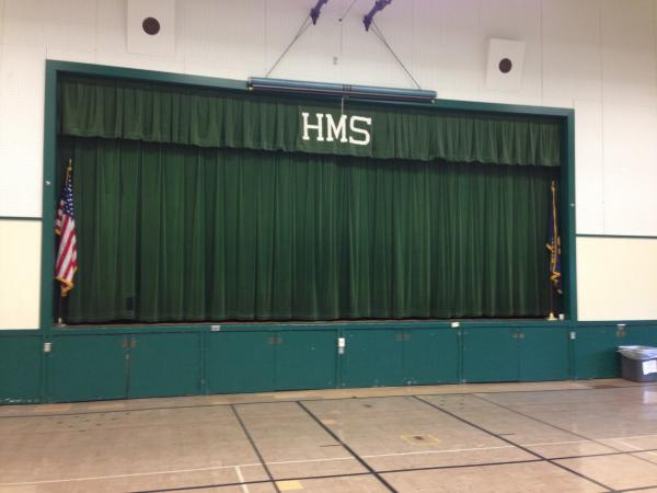 The stage at Hamlin Middle School.