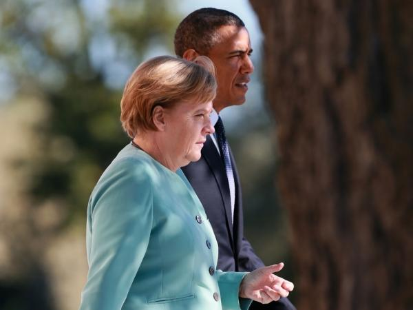 German Chancellor Angela Merkel and President Obama in September at the G20 summit in Russia. She and other leaders have objected after hearing that the NSA was listening to their phone calls.