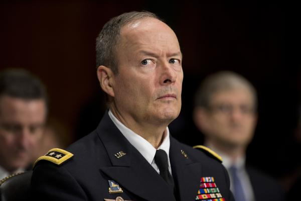 National Security Agency Director Gen. Keith Alexander is sworn on Capitol Hill on Sept. 26.