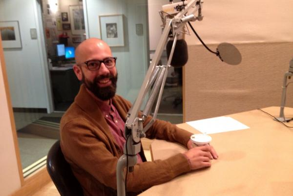 Dwolla founder Ben Milne is pictured in the Here & Now studios. (Jill Ryan/Here & Now)