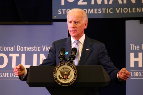 Vice President Joe Biden visited the headquarters of the National Domestic Violence Hotline in Austin on Oct. 30, 2013.