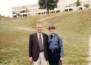 Kelly Glossip and his partner, Trooper Dennis Englehard, on the day Englehard graduated from the state police academy in 2000.