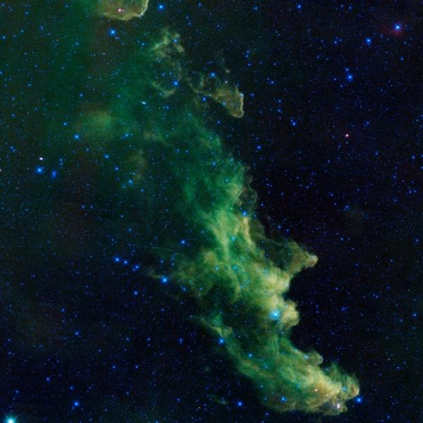 The Witch Head nebula, a spooky image from NASA. But is it scarier that more than half of adults think about the best way to eat candy corn?