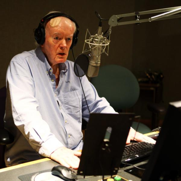 Robert Conley, 85, last month in NPR's Studio 2A.