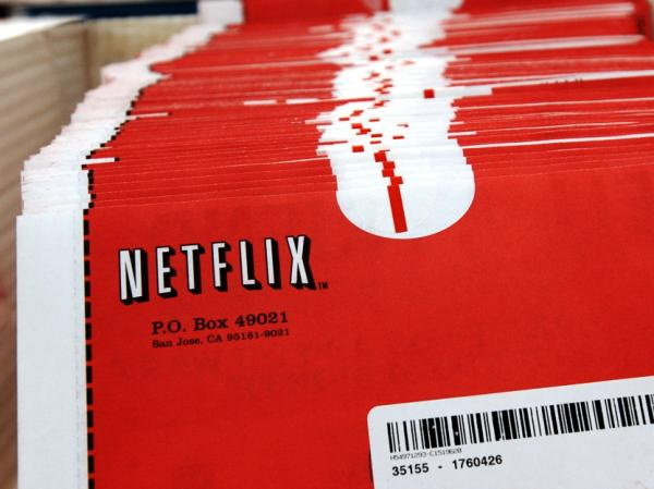 <p>Packages of DVDs await shipment at Netflix's headquarters in San Jose, Calif.</p>