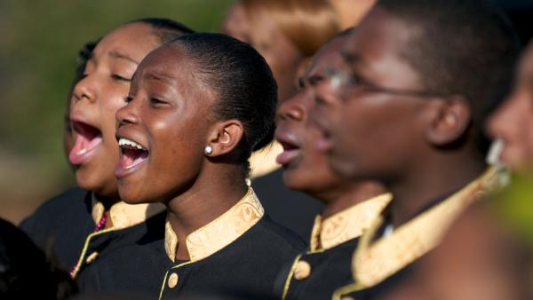 A choir in Little Rock, Ark., performs.