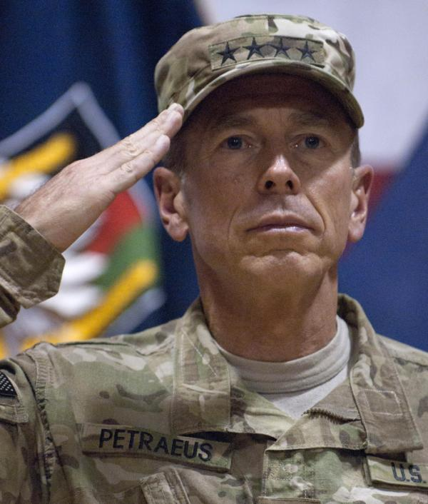 Gen. David Petraeus in Kandahar, Afghanistan, on July 4, 2011.