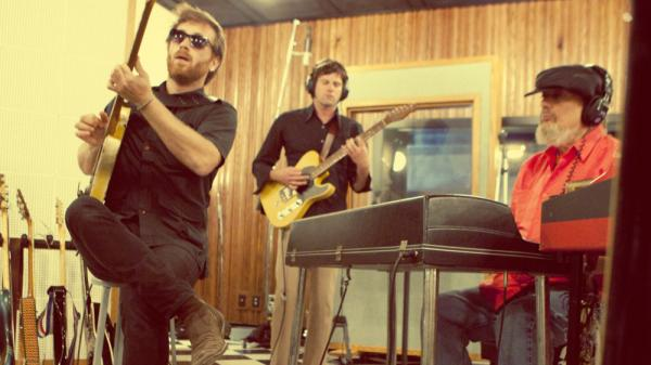 Dan Auerbach (left) joins Dr. John on the latter's new album, <em>Locked Down.</em>