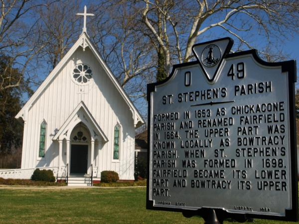 The St. Stephen's Church in Heathsville, Va., has been at the center of an ugly custody battle between the St. Stephen's Episcopal Church and the newly affiliated St. Stephen's Anglican Church.