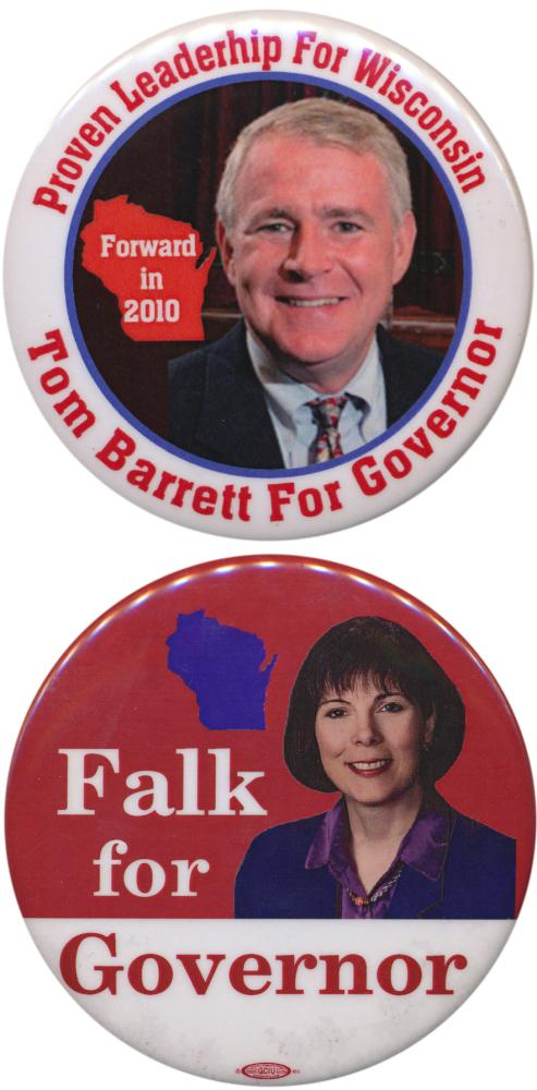 Both Democrats come off unsuccessful gov. campaigns; Barrett lost to Walker in 2010, and Falk lost the primary in 2006.